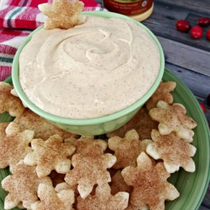 EGG NOG DIP with Cinnamon Sugar Pie Crust Dippers - Juggling Act Mama
