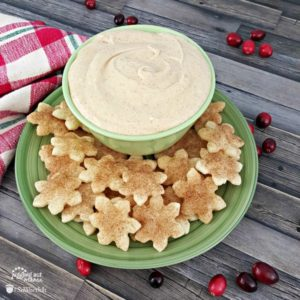 Egg Nog Dip with Cinnamon Sugar Pie Crust Dippers - Instagram
