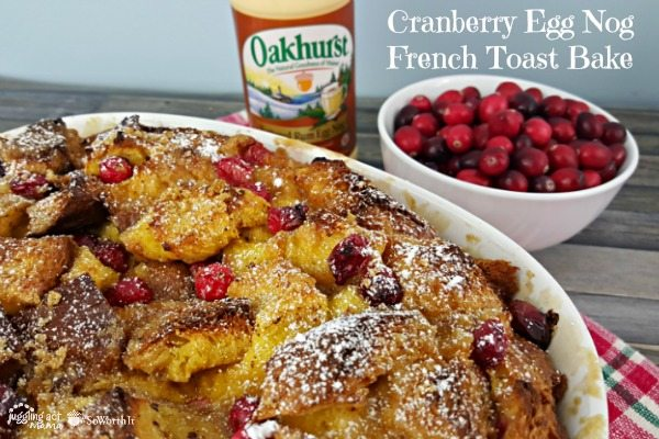 French Toast Bake with Cranberries - rich and delicious