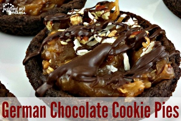 German Chocolate Cookie Pies - Juggling Act Mama