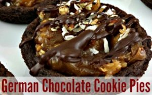 German Chocolate Cookie Pies