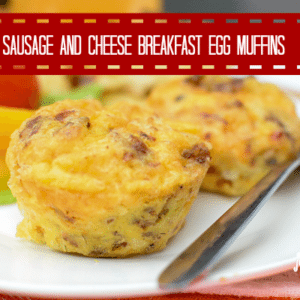 Sausage and Cheese Breakfast Egg Muffins 600 400