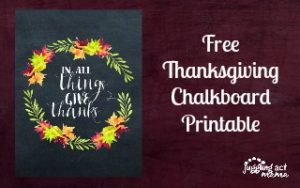 Thanksgiving Chalkboard Printable