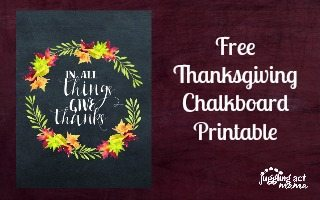 Thanksgiving Chalkboard Printable