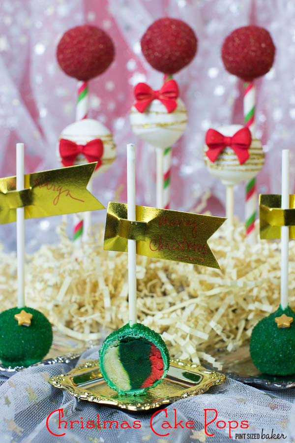 Tri-Color Christmas Cake Pops - get the full tutorial at jugglingactmama.com