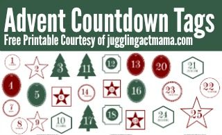 Advent Countdown Tags