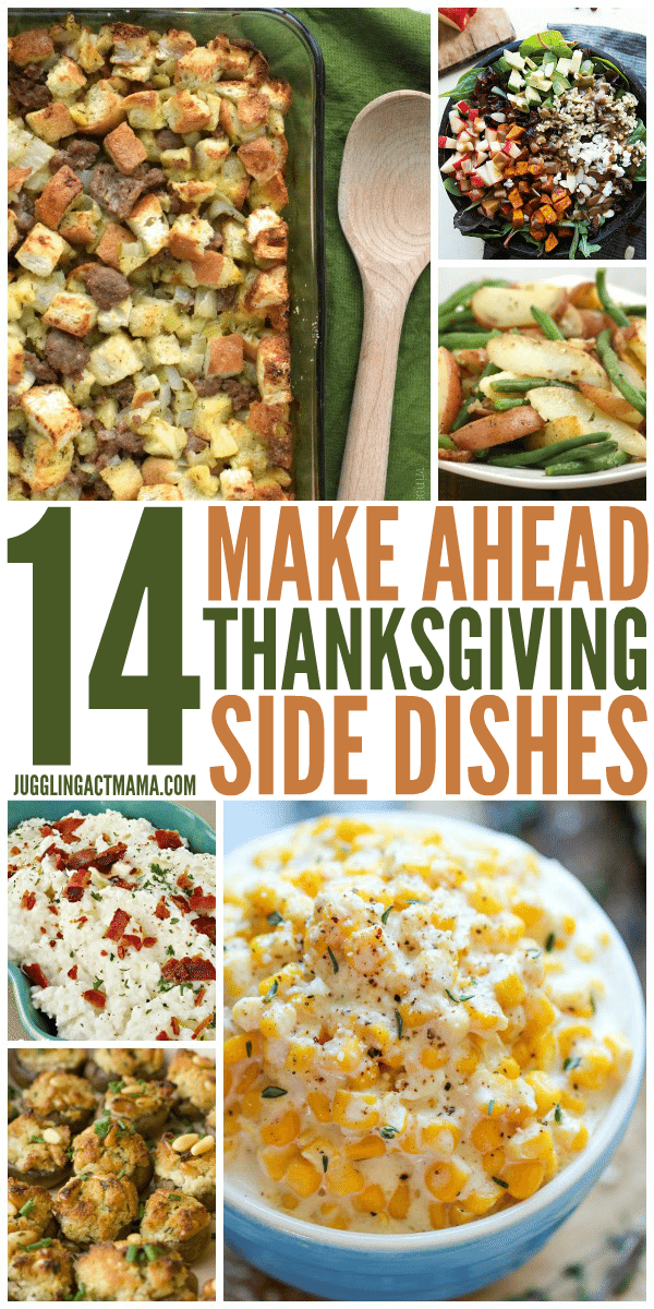 14 Make Ahead Thanksgiving Side Dishes
