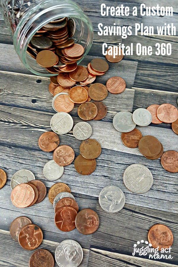 Create a Custom Savings Plan with Capital One 360 via Juggling Act Mama