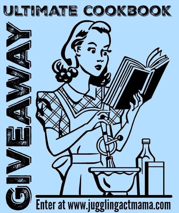 Enter to win the Ultimate Cookbook Giveaway at JugglingActMama.com