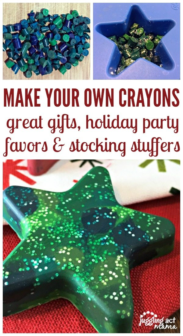 Learn how to make molded crayons over winter break this year. Your kids will love it. No more broken pieces going to waste! via @jugglingactmama