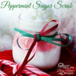 Peppermint Sugar Scrub #DIYgift #DIYbeauty