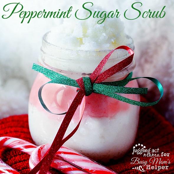 Peppermint Sugar Scrub #DIYgift #DIYbeauty
