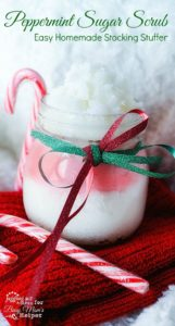 Peppermint Sugar Scrub - Easy Homemade Stocking Stuffer