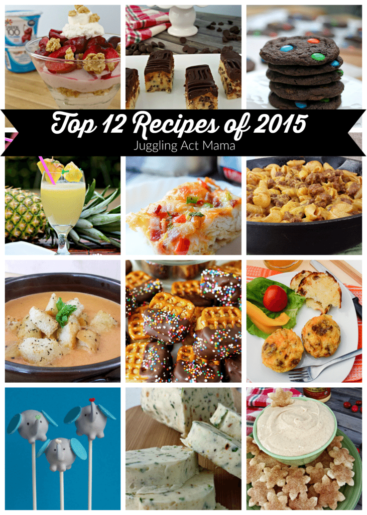 Top 12 Recipes of 2015 Pinnable