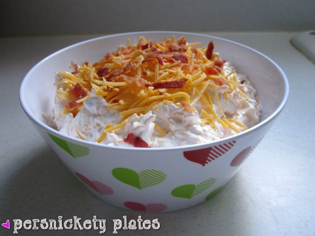 Loaded Baked Potato Dip | Persnickety Plates
