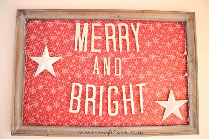 Merry and Bright Wooden Banner by Create Craft Love