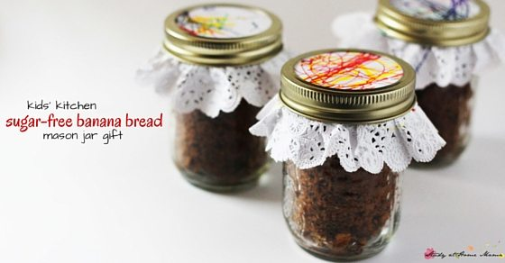 Sugar Free Banana Bread Mason Jar Gift