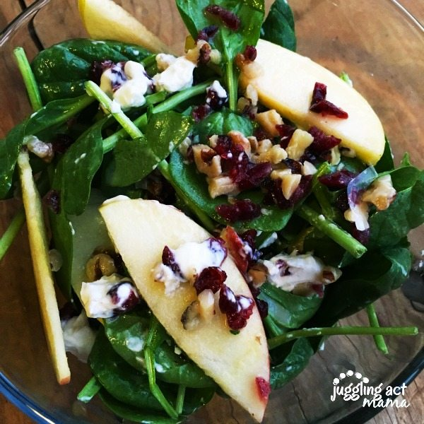 Apple, Cranberry, Walnut, & Goat Cheese