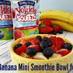 Berry Banana Mini SmBerry Banana Mini Smoothie Bowl for Kids with Stoneyfield Yogurtoothie Bowl for Kids