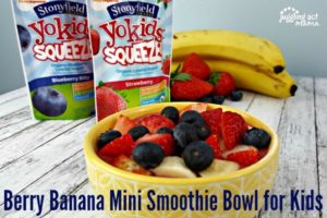 Berry Banana Mini Smoothie Bowl for Kids