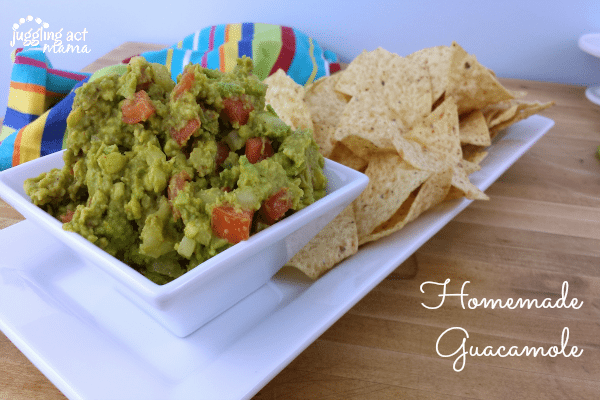Homemade Guacamole - Juggling Act Mama
