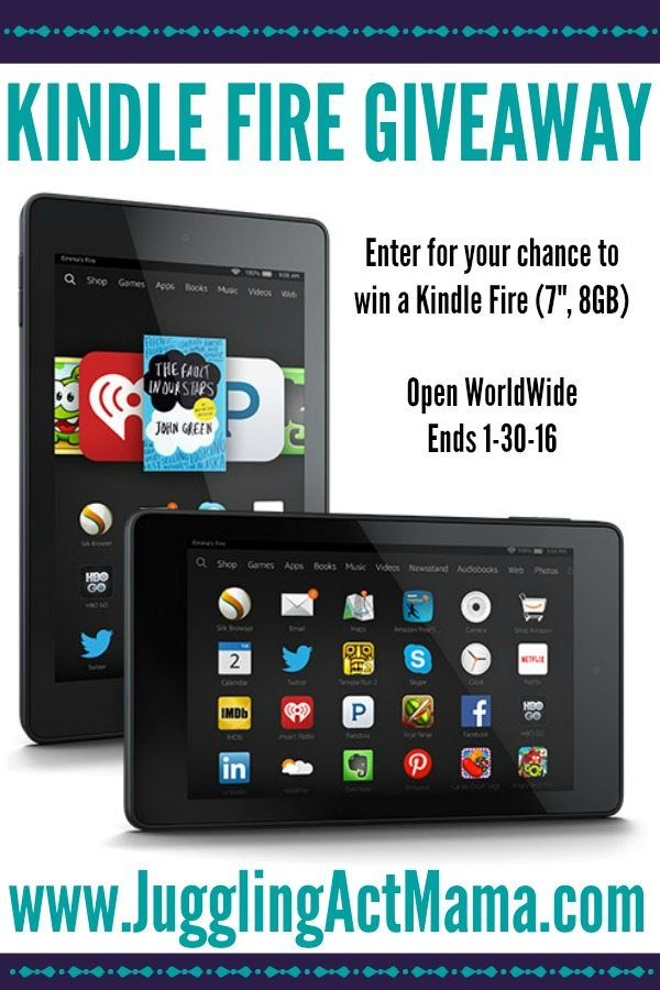 Enter the Kindle Fire Giveaway