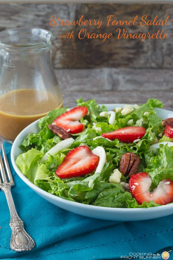 Strawberry Fennel Pecan Salad