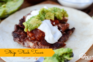Strip Steak Tacos with Guacamole