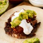 Strip Steak Tacos with Guacamole