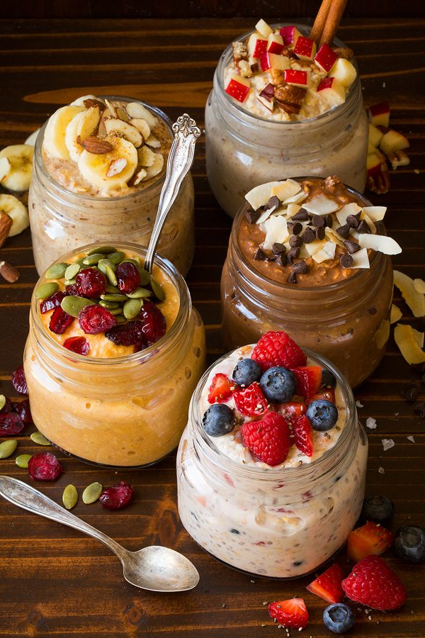 Overnight Oats 5 Ways - Cooking Classy