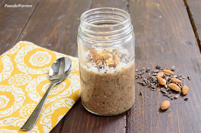 Almond Joy Overnight Oats Recipe from Pancake Warrior
