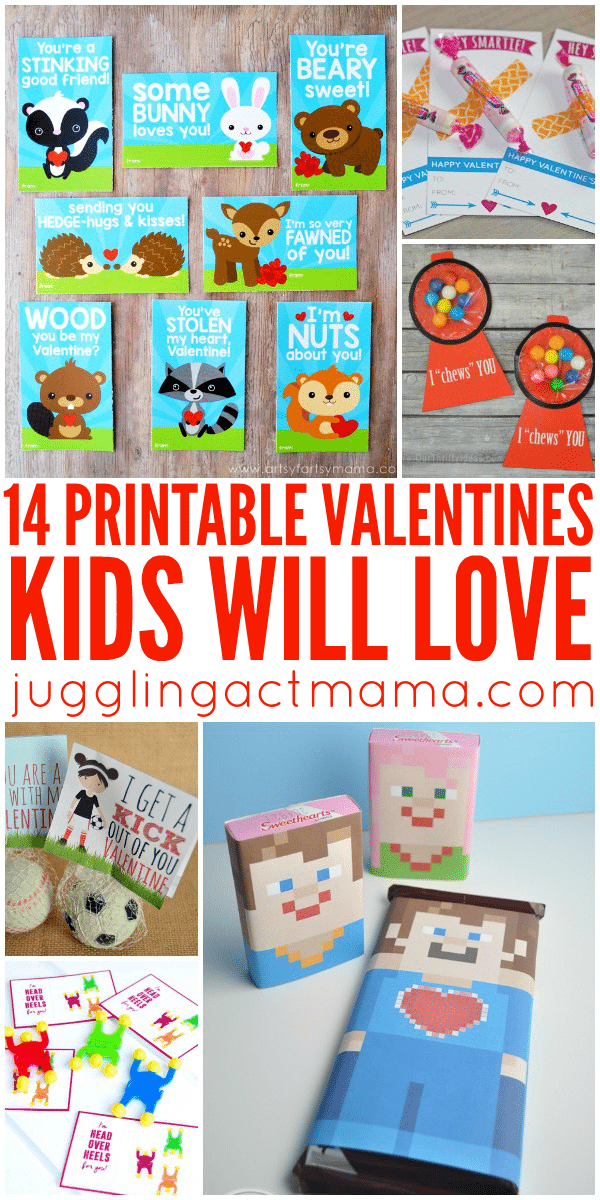 14 Free Printable Valentines Kids Will Love