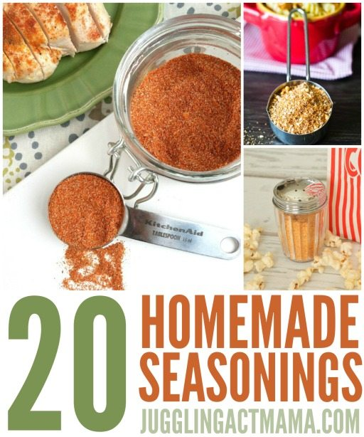 20 Homemade Seasoning Mixes and Spice Blends
