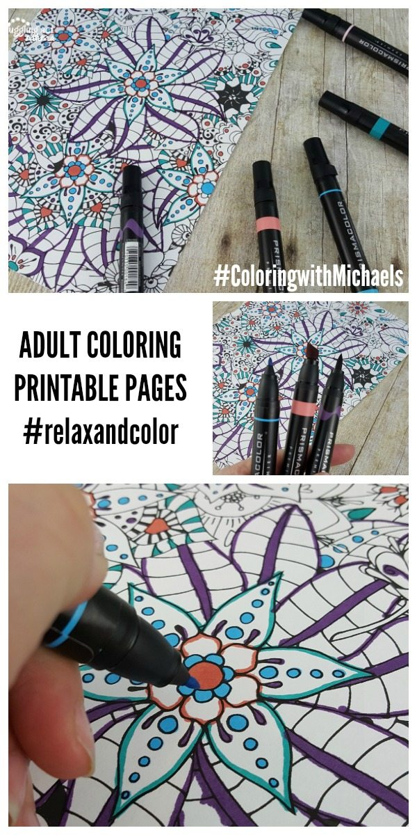 ADULT COLORING PRINTABLE PAGES #relaxandcolor