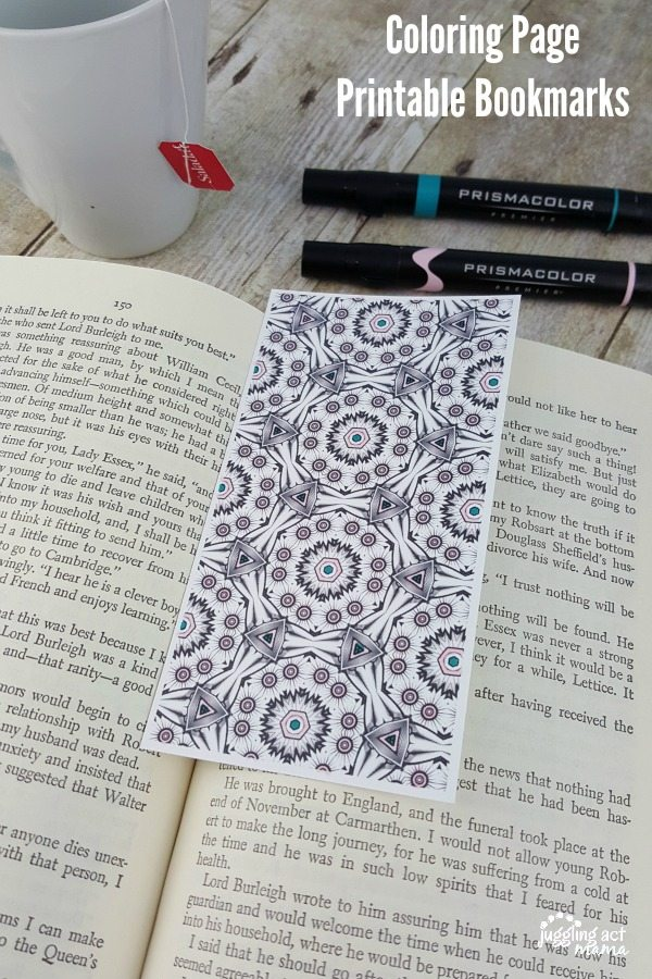 Coloring Page Printable Bookmarks - free printable