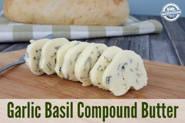Delicious Garlic Basil Compound Butter