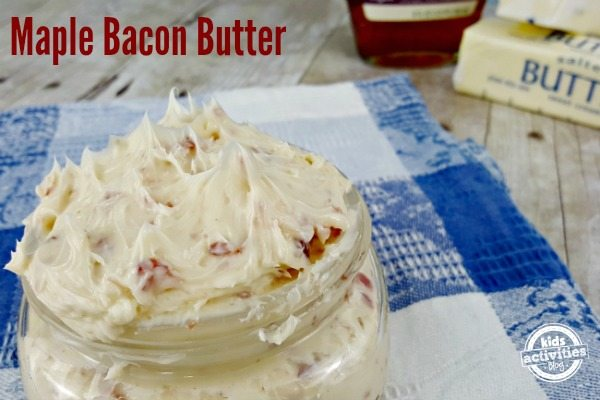 Delicious Maple Bacon Compound Butter made in minutes!