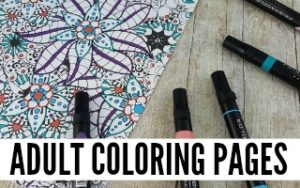 Adult Coloring Printables