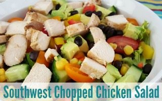 Chopped Salad Recipe + Southwest Chipotle Dressing
