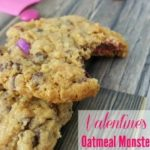 Oatmeal Monster Cookies for Valentine's Day