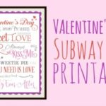 Valentines Day Subway Art Free Printable
