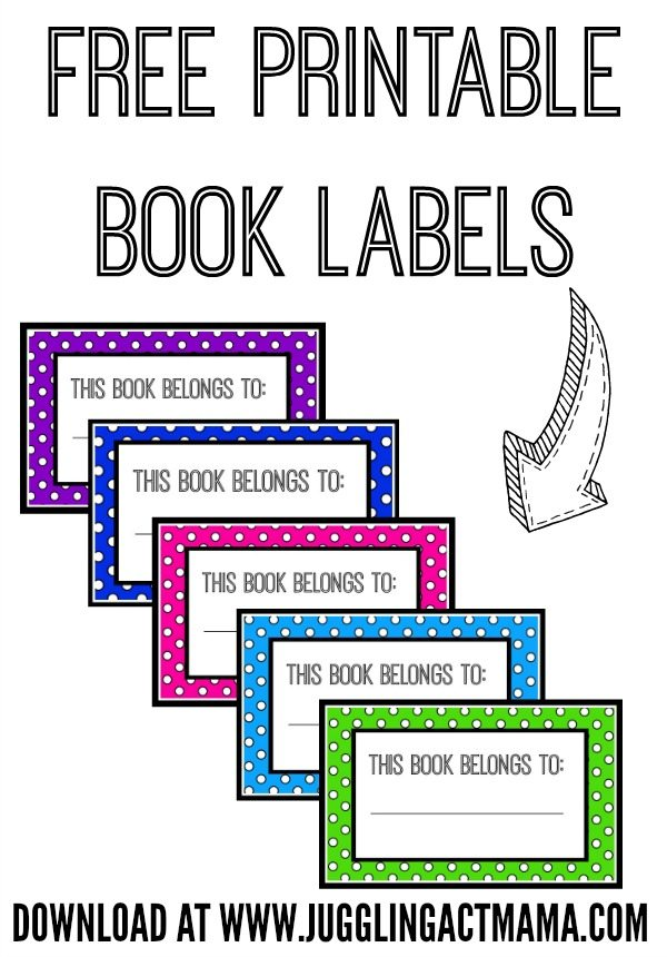 graphic about Printable Name Labels referred to as E-book Popularity Tags Printable - FREEBIE - Juggling Act Mama