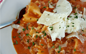 Quick Lasagna Soup