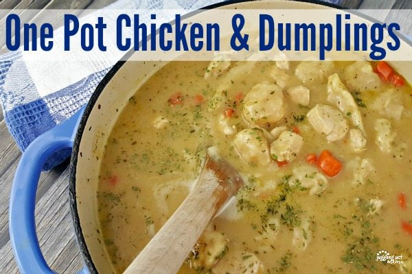 One Pot Chicken and Dumplings Recipe