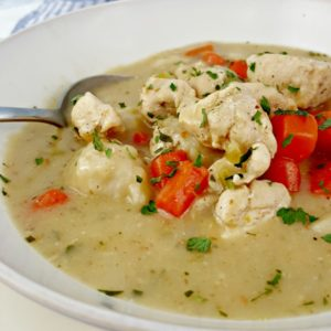 One Pot Chicken and Dumplings is the perfect comfort food meal!