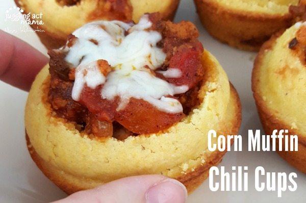 Three-Bite Corn Muffin Chili Cups