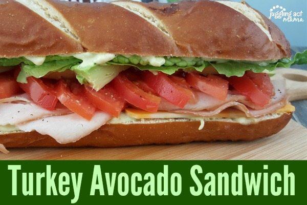 Turkey Avocado Sandwich #OscarMayerNatural #sponsored