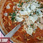 Warm and comforting Lasagna Soup