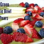 Green Smoothie Bowl with Berries & Pears