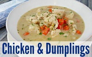 Easy Chicken and Dumplings with Biscuits